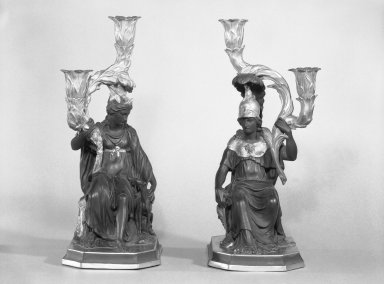 Wedgwood (1759-present). Candelabras, ca.1885. Basaltes Brooklyn Museum, Gift of Emily Winthrop Miles, 55.25.4a-b. Creative Commons-BY