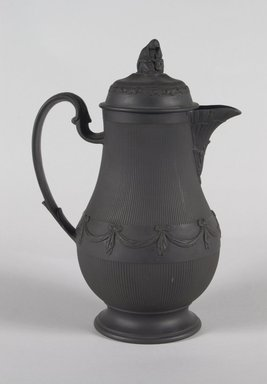 Pitcher with Cover, ca. 1790. Basaltes, 9 3/4 in. (24.8 cm). Brooklyn Museum, Gift of Emily Winthrop Miles, 55.25.5a-b. Creative Commons-BY