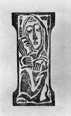 Max Weber (American, born Russia, 1881-1961). Mother and Child, ca. 1932. Woodcut, printed ink, 4 1/2 x 2 in. (11.4 x 5.1 cm). Brooklyn Museum, Anonymous gift in honor of Michelle Murphy, 55.8