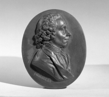 Wedgwood & Bentley (1759-present). Portrait Medallion, 1775-1780. Basaltes, 3 1/4 x 2 1/2 in. (8.3 x 6.4 cm). Brooklyn Museum, Gift of Emily Winthrop Miles, 55.9.11. Creative Commons-BY