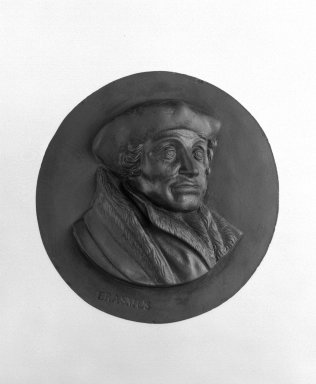 Wedgwood & Bentley (1759-present). Portrait Medallion, 1775-1780. Basaltes, 3 in. (7.6 cm). Brooklyn Museum, Gift of Emily Winthrop Miles, 55.9.13. Creative Commons-BY
