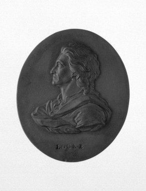 Wedgwood & Bentley (1759-present). Portrait Medallion, 1775-1780. Basaltes, 2 1/16 x 1 3/4 in. (5.2 x 4.4 cm). Brooklyn Museum, Gift of Emily Winthrop Miles, 55.9.17. Creative Commons-BY
