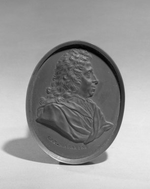 Wedgwood & Bentley (1759-present). Portrait Medallion, ca.1775. Basaltes, 3 x 2 3/8 in. (7.6 x 6 cm). Brooklyn Museum, Gift of Emily Winthrop Miles, 55.9.1. Creative Commons-BY
