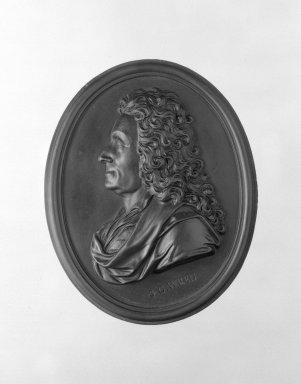 Wedgwood & Bentley (1759-present). Portrait Medallion, ca.1775. Basaltes, 4 x 3 1/4 in. (10.2 x 8.3 cm). Brooklyn Museum, Gift of Emily Winthrop Miles, 55.9.2. Creative Commons-BY
