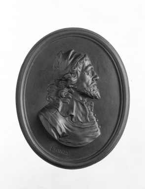 Wedgwood & Bentley (1759-present). Portrait Medallion, ca.1775. Basaltes, 4 x 3 1/4 in. (10.2 x 8.3 cm). Brooklyn Museum, Gift of Emily Winthrop Miles, 55.9.3. Creative Commons-BY