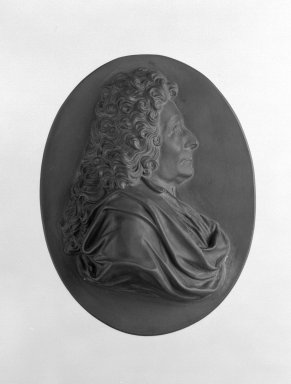 Wedgwood & Bentley (1759-present). Portrait Medallion, ca.1790. Basaltes, 4 1/16 x 3 1/4 in. (10.3 x 8.3 cm). Brooklyn Museum, Gift of Emily Winthrop Miles, 55.9.8. Creative Commons-BY