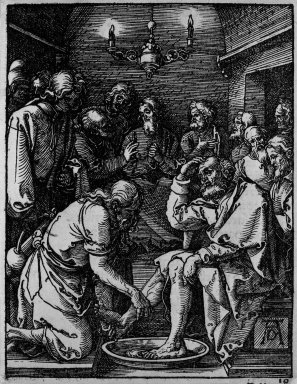 Albrecht Dürer (German, 1471-1528). Christ Washing the Feet of the Disciples, 1509-1511; edition of 1511. Woodcut on laid paper, Image: 4 15/16 x 3 7/8 in. (12.5 x 9.8 cm). Brooklyn Museum, Gift of Mrs. Howard M. Morse, 56.105.10