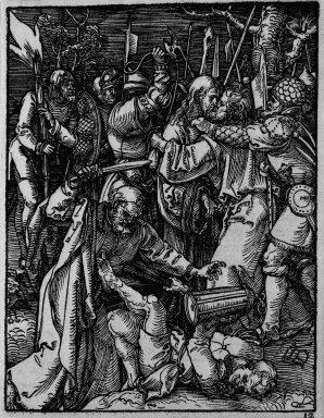 Albrecht Dürer (German, 1471-1528). Betrayal of Christ, 1509-1511; edition of 1511. Woodcut on laid paper, Sheet: 5 3/16 x 4 in. (13.2 x 10.2 cm). Brooklyn Museum, Gift of Mrs. Howard M. Morse, 56.105.12