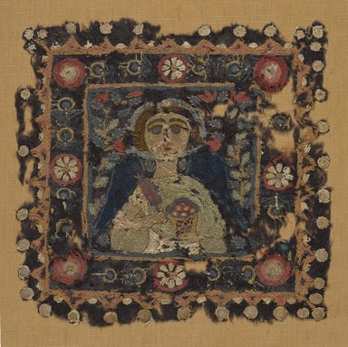Coptic. Female Personification, 5th century C.E. Flax, wool, 11 1/2 x 11 1/2 in. (29.2 x 29.2 cm). Brooklyn Museum, Charles Edwin Wilbour Fund, 56.125. Creative Commons-BY