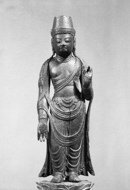 Sculpture of a Bodhisattva, 794-896. Wood, 15 9/16 x 3 15/16 x 2 3/4 in. (39.5 x 10 x 7 cm). Brooklyn Museum, Frank L. Babbott Fund, 56.153. Creative Commons-BY