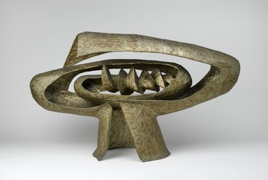 Seymour Lipton (American, 1903-1986). Earth Forge II, 1955. Nickel silver over steel, 31 1/8 x 52 5/8 x 19 1/4 in.  (79.1 x 133.7 x 48.9 cm). Brooklyn Museum, Dick S. Ramsay Fund, 56.188. ©Estate of Seymour Lipton; Courtesy of Micheal Rosenfeld Gallery LLC, New York, NY