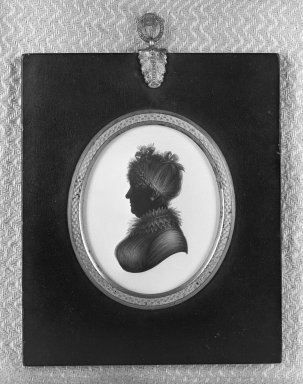 Miers. Silhouette of Bust Portrait of Old Lady. paper Brooklyn Museum, Gift of Emily Winthrop Miles, 56.192.1