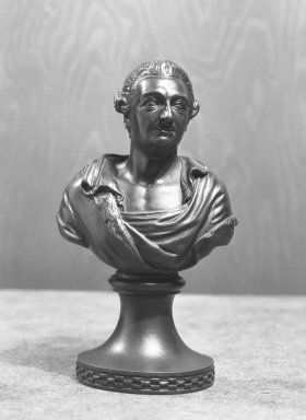 Portrait Bust of Garrick. Wedgwood and other black basalt Brooklyn Museum, Gift of Emily Winthrop Miles, 56.192.27. Creative Commons-BY