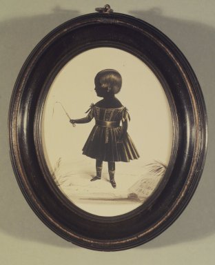 Brooklyn Museum: Silhouette of Full Length Little Girl