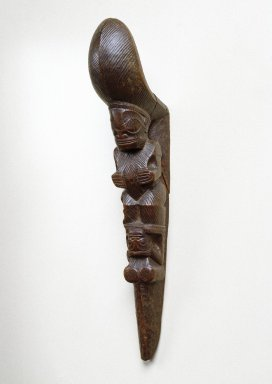Marquesan. Stilt Step (Tapuvae), late 18th century. Wood, 15 x 2 5/8 x 4 5/8 in. (38.1 x 6.7 x 11.7 cm). Brooklyn Museum, Gift of Arturo and Paul Peralta-Ramos, 56.6.106. Creative Commons-BY