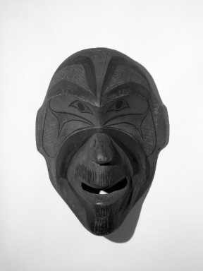 Eskimo (Native American). Mask. Wood, pigment, 12 5/16 x 8 3/4 in.  (31.2 x 22.3 cm). Brooklyn Museum, Gift of Arturo and Paul Peralta-Ramos, 56.6.1. Creative Commons-BY