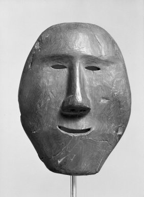 Eskimo (Native American). Mask. Wood, 9 3/4 x 7 1/2 x 3 1/2in. (24.8 x 19.1 x 8.9cm). Brooklyn Museum, Gift of Arturo and Paul Peralta-Ramos, 56.6.27. Creative Commons-BY