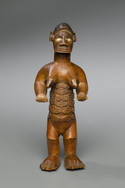 Kongo (Beembe subgroup). Female Figure (Bimbi), 20th century. Wood, ceramic, 5 3/4 x 2 5/16 x 1 7/8 in. (14.6 x 5.9 x 4.8 cm). Brooklyn Museum, Gift of Arturo and Paul Peralta-Ramos, 56.6.40. Creative Commons-BY