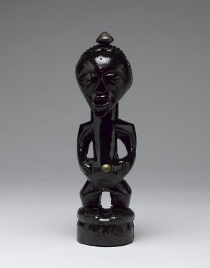 Songye. Power Figure (Nkishi), late 19th or early 20th century. Wood, metal, organic materials, 8 1/2 x 2 1/4 in. (21.7 x 6.0 cm). Brooklyn Museum, Gift of Arturo and Paul Peralta-Ramos, 56.6.43. Creative Commons-BY