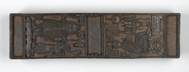 Edo. Box with lid, late 19th or early 20th century. Wood, 4 1/4 x 28 x 7 1/2 in. (10.8 x 71.1 x 19.1 cm). Brooklyn Museum, Gift of Arturo and Paul Peralta-Ramos, 56.6.63a-b. Creative Commons-BY