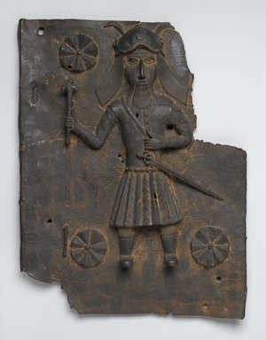 Plaque, 16th or 17th century. Copper alloy, 19 13/16 x 15 9/16 x 2 1/2 in. (50.3 x 39.5 x 6.4 cm). Brooklyn Museum, Gift of Arturo and Paul Peralta-Ramos, 56.6.74. Creative Commons-BY