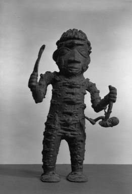 Edo. Standing Executioner Figure, 19th or 20th century. Copper alloy, patina, 13 1/4 x 8 in. (33.8 x 20.3 cm). Brooklyn Museum, Gift of Arturo and Paul Peralta-Ramos, 56.6.77. Creative Commons-BY
