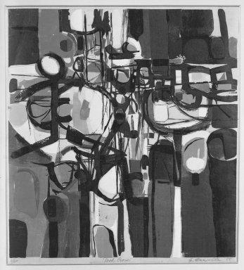 Edmond Casarella (American, 1920-1996). Rock Cross, 1955. Paper relief cut in color, Image: 24 x 22 in. (61 x 55.9 cm). Brooklyn Museum, Dick S. Ramsay Fund, 56.81. © Estate of Edmond Casarella