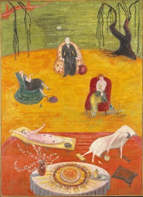 Florine Stettheimer (American, 1871-1944). Heat, 1919. Oil on canvas, 50 x 36 1/2 in. (127.0 x 92.7 cm). Brooklyn Museum, Gift of the Estate of Ettie Stettheimer, 57.125