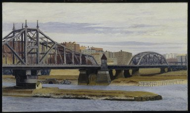 Edward Hopper (American, 1882-1967). Macomb's Dam Bridge, 1935. Oil on canvas, 35 x 60 3/16 in. (88.9 x 152.9 cm). Brooklyn Museum, Bequest of Mary T. Cockcroft, 57.145. © Heirs of Josephine N. Hopper, licensed by the Whitney Museum of American Art