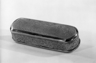 Rectangular Tabacco Box, ca.1700. Brass, 1 3/16 x 6 3/8 x 2 1/4 in. (3 x 16.2 x 5.7 cm). Brooklyn Museum, Gift of C. G. Mourraille, 57.169.12. Creative Commons-BY