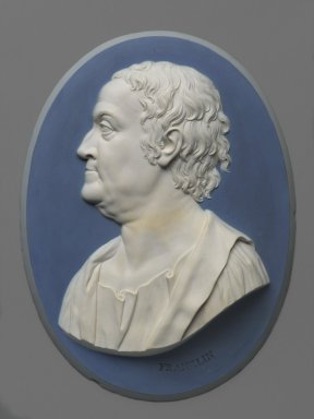 Wedgwood & Bentley (1759-present). Oval Portrait Plaque, 1777-1779. Jasperware, 10 7/8 x 8 in. (27.6 x 20.3 cm). Brooklyn Museum, Gift of Emily Winthrop Miles, 57.180.4. Creative Commons-BY