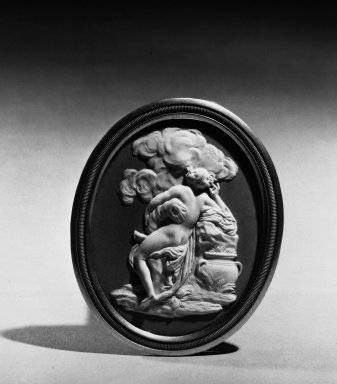 Upright Oval Medallion. Jasperware, bas relief Brooklyn Museum, Gift of Emily Winthrop Miles, 57.180.55. Creative Commons-BY