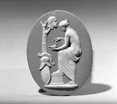 Classical Oavl Medallion. Jasperware Brooklyn Museum, Gift of Emily Winthrop Miles, 57.180.65. Creative Commons-BY