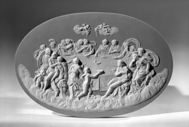 Lateral Oval Plaque, ca. 1800. Jasperware Brooklyn Museum, Gift of Emily Winthrop Miles, 57.180.84. Creative Commons-BY