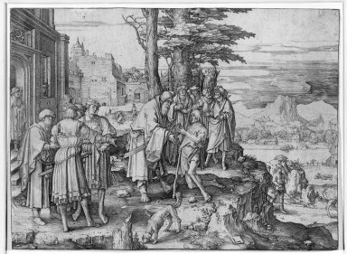 Lucas van Leyden (Dutch, 1494-1533). The Prodigal Son, 1510. Engraving on laid paper, 7 1/16 x 9 11/16 in. (18 x 24.6 cm). Brooklyn Museum, Gift of Mrs. Charles Pratt, 57.188.30