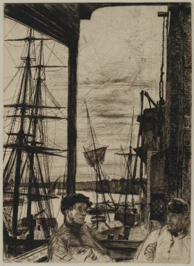 James Abbott McNeill Whistler (American, 1834-1903). Rotherhite, 1860. Etching on paper, Image: 10 11/16 x 7 3/4 in. (27.1 x 19.7 cm). Brooklyn Museum, Gift of Mrs. Charles Pratt, 57.188.65