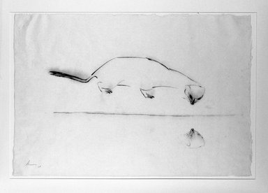 Morris Graves (American, 1910-2001). Animal with Reflexion, 1954. Ink on paper, 18 x 26 1/2 in. (45.7 x 67.3 cm). Brooklyn Museum, Dick S. Ramsay Fund, 57.18. © Morris Graves Foundation