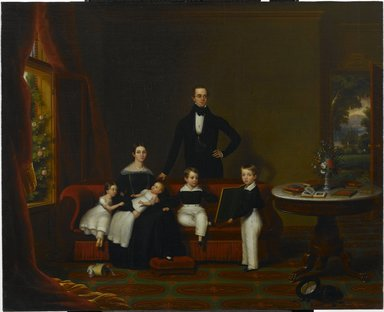 Frederick R. Spencer (American, 1806-1875). Family Group, 1840. Oil on canvas, 29 1/8 x 36 in. (74 x 91.4 cm). Brooklyn Museum, Dick S. Ramsay Fund, 57.68