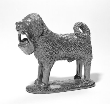 Dog, 19th century. Glazed earthenware, 5 3/4 x 5 1/2 in. (14.6 x 14 cm). Brooklyn Museum, Gift of Huldah Cail Lorimer in memory of George Burford Lorimer, 57.75.23. Creative Commons-BY