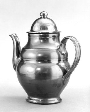 Thomas Haig. Teapot, ca. 1830. Glazed earthenware, 10 1/4 x 4 1/4 in. (26 x 10.8 cm). Brooklyn Museum, Gift of Huldah Cail Lorimer in memory of George Burford Lorimer, 57.75.35. Creative Commons-BY