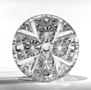 Cup Plate, ca. 1880. Pressed glass, 2 7/8 in. (7.3 cm). Brooklyn Museum, Gift of Mrs. Cheever Porter, 57.90.16. Creative Commons-BY