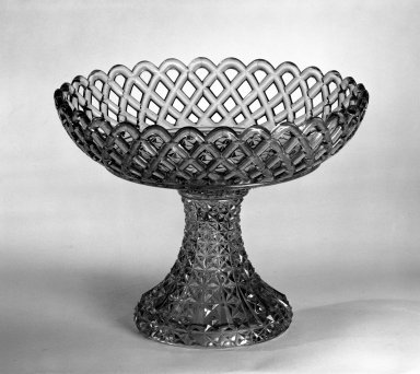 Compote, after 1850. Pressed glass, 7 3/8 x 9 1/4 in. (18.7 x 23.5 cm). Brooklyn Museum, Gift of Mrs. Cheever Porter, 57.90.1. Creative Commons-BY