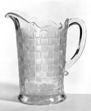 Pitcher, ca. 1880. Pressed glass, 8 1/4 x 5 x 6 1/8 in. (21 x 12.7 x 15.6 cm). Brooklyn Museum, Gift of Mrs. Cheever Porter, 57.90.43. Creative Commons-BY
