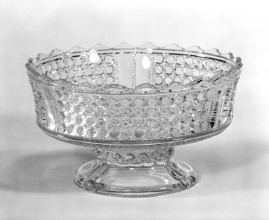 Compote, ca. 1870. Pressed glass, 4 1/8 x 7 5/8 in. (10.5 x 19.4 cm). Brooklyn Museum, Gift of Mrs. Cheever Porter, 57.90.4. Creative Commons-BY
