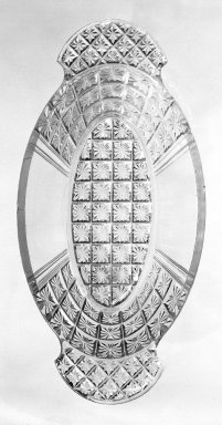 Dish, ca. 1880. Pressed glass, 1 3/4 x 4 1/2 x 9 in. (4.4 x 11.4 x 22.9 cm). Brooklyn Museum, Gift of Mrs. Cheever Porter, 57.90.56. Creative Commons-BY