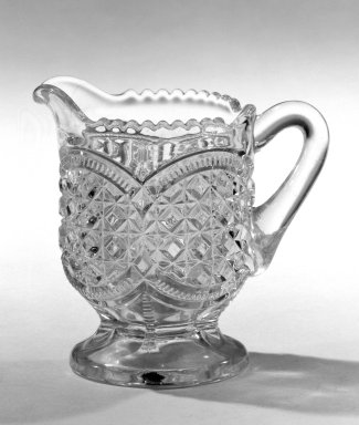 Creamer, ca. 1880. Pressed glass, 3 1/4 x 2 1/2 in. (8.3 x 6.4 cm). Brooklyn Museum, Gift of Mrs. Cheever Porter, 57.90.90. Creative Commons-BY