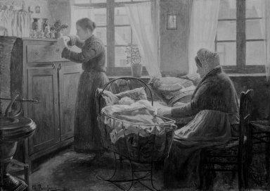 Charles Rousseau (Belgian, 1862-1916). Last Hope (Dernier espoir), 1906. Oil on canvas, 36 1/2 x 51 in. (92.7 x 129.5 cm). Brooklyn Museum, Gift of Mr. and Mrs. Sidney W. Davidson, 57.94
