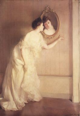 Mary Shepard Greene Blumenschein (American, 1869-1958). Un Regard Fugitif, 1900. Oil on canvas, 51 3/4 x 36 1/4 in. (131.4 x 92.1 cm). Brooklyn Museum, Gift of Mr. and Mrs. Sidney W. Davidson, 57.95