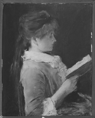 """Mihály Munkácsy (Hungarian, 1844-1900). A Study for """"Paradise Lost,"""" 1899. Oil on wood panel, 24 x 19 3/8in. (61 x 49.2cm). Brooklyn Museum, Gift of Mr. and Mrs. Sidney W. Davidson, 57.98"""
