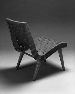 Jens Risom (American, born Denmark, 1916). Lounge Chair, Model 654W, Designed 1941; Manufactured ca. 1946. Birch, cotton webbing, 29 3/4 x 19 7/8 x 28 in.  (75.6 x 50.5 x 71.1 cm). Brooklyn Museum, Gift of the artist, 58.121. Creative Commons-BY